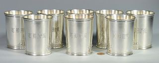 8 Reed & Barton Sterling Julep Cups