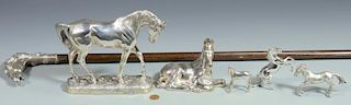 6 Sterling Silver Equestrian Items