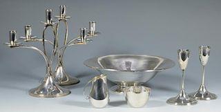 7 Modernist Sterling Silver Items