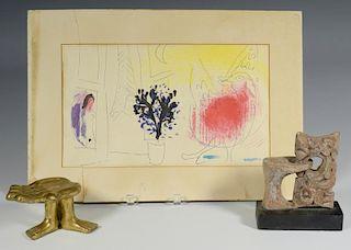 Friedeberg Hand Chair, Chagall Litho, Raiken Sculpture