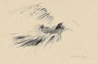 Fernando Zobel Ink Drawing