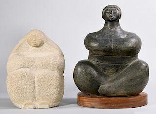 2 Frank McGuire sculptures