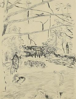 Pierre Bonnard Etching, The Joy of Farming