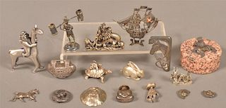 Group of Sterling and Silver-plated Items.