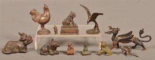 11 Vintage Cast Bronze and Cast Metal Figures.