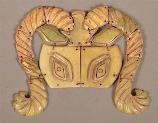 Carved Jade Ceremonial Mask.
