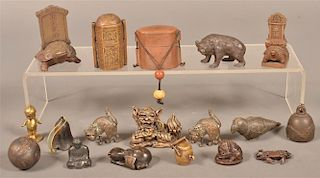 Group of Brass, Bronze and Metal Pieces.