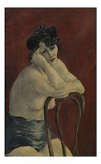 Nude Oil on Canvas, After Gustav Klimt