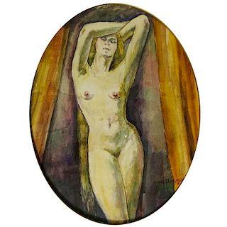Attributed to: Kees van Dongen, Dutch 1877-1968) Watercolor on Paper, Nude.