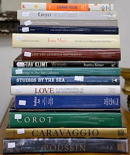 """Lot of fifteen coffee table books to include Lonenner's """"Joan Miro"""", Rowell's """"Sigmar Polke"""", Spike's """"Caravaggio"""", etc."""