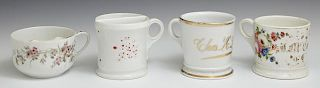 Four Porcelain Cups, early 20th c., including two