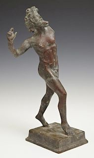 Patinated Bronze Classical Statue of a Male Athlet