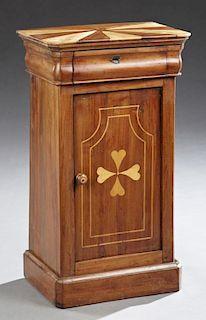 Louis Philippe Inlaid Cherry Nightstand, 19th c.,