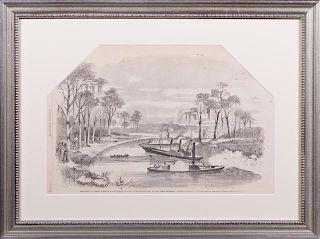 """The Fight at Corney's Bridge, Bayou Teche, Louisi"