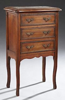 French Louis XV Style Marble Top Nightstand, early