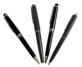 Eight Montblanc Writing Instruments,