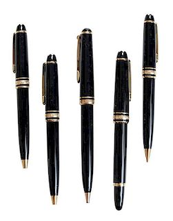 Seven Montblanc Writing Instruments