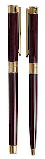 Eight Montblanc Maroon Writing