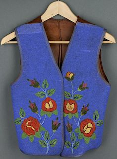 Plateau Blue Beaded Vest (ca. 1900 - 1920)