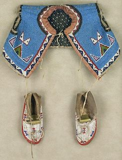 Sioux Child's Vest & Moccasins (ca. 1890 - 1910)