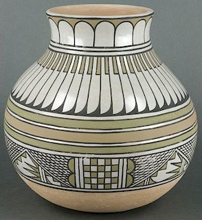 Blue Corn | San Ildefonso Polychrome Pot