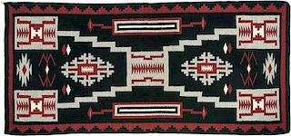 Navajo Rug with Storm Pattern (ca. 1940 - 1950)
