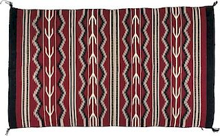 Navajo Red Crystal Rug (ca. 1970's)