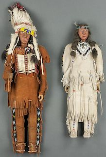 Lot of 2: Plains Indian Dolls (ca. 1940's)
