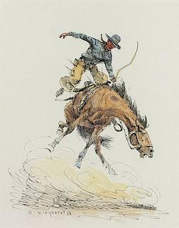 Olaf Wieghorst | Cowboy on Bucking Horse