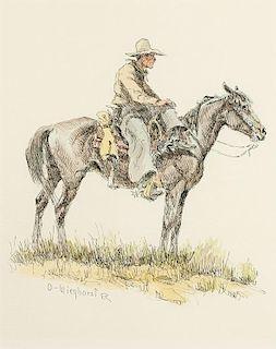 Olaf Wieghorst | Cowboy Resting on Horse