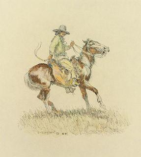 Olaf Wieghorst | Indian Playing Cowboy