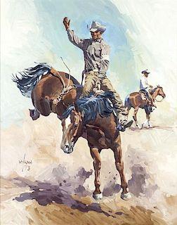 Newman Myrah | Cowboy on Bucking Horse