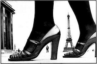 Paris Shoe and Eiffel Tower A