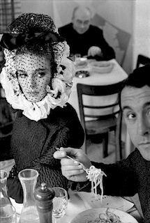 """Frank Horvat, """"Rome, Model with Spaghetti"""""""