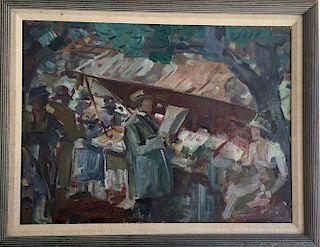 French Impressionist Modern Paris Bouqinistes
