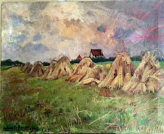 Gabriel De Pauw (1924-2000) Belgian Impressionist Painting