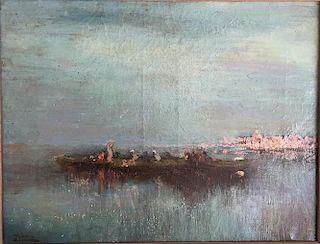 Venice painting Felix Ziem, attributed to