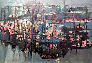 Zvi Mairovich (1911-1973) Israeli Modernist painting