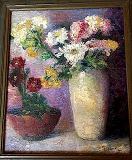 Max Kuehne (1880-1968) oil painting floral