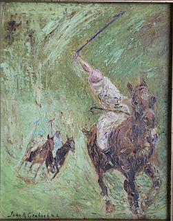 John Grabach  (1886-1981)  Polo Players American Impressionist