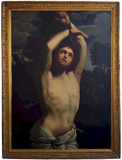 Guido Reni, after. St. Sebastian Old Master