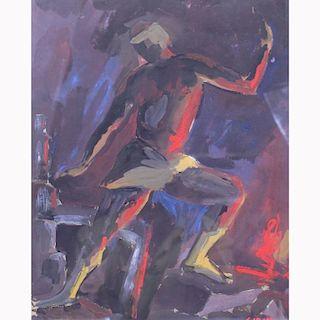 Attr. Mario Sironi  (1885 - 1961) Gouache/Paper