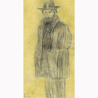 Maximilien Luce  (1858 - 1941) Charcoal/Paper