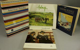 (4) Art Reference Books, American Painting, Hopper
