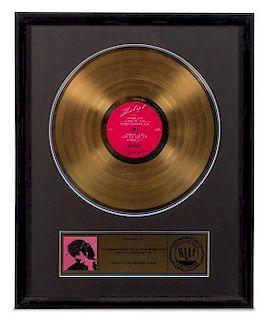 A Carlos Santana: Zebop RIAA Certified Gold Presentation Album 21 x 17 inches.