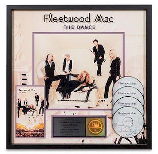 A Fleetwood Mac: The Dance RIAA Certified 4x Platinum Presentation Album 21 x 21 inches.
