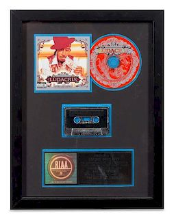 A Ludacris: The Red Light District RIAA Certified Platinum Presentation Album 17 3/8 x 13 1/4 inches.