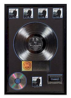 A Jay-Z: Vol 2... Hard Knock Life RIAA Certified 5x Platinum Presentation Album 24 3/4 x 16 3/4 inches.