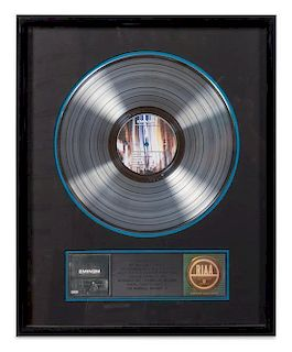 An Eminem: The Marshall Mathers LP RIAA Certified 5x Platinum Presentation Album 21 x 17 inches.