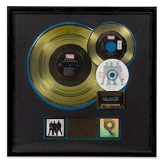 A Run-D.M.C.: Down with the King RIAA Certified Gold Presentation Album 21 x 21 inches.
